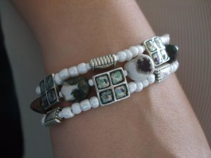 Bracelet - multi strand mixed stone