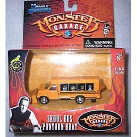 Monster Garage - Skool Bus Pontoon Boat