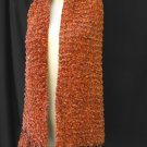 Hand Knit Scarf -  Stole Terra Cotta