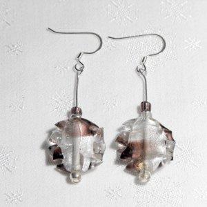 Jagged Crystal Flakes - Earrings
