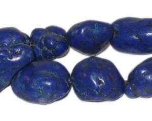 Navy Blue Beads Turquoise Nuggets