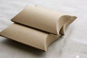 (10) 3.5 x 3 x 1 Blank Kraft Pillow Gift Boxes