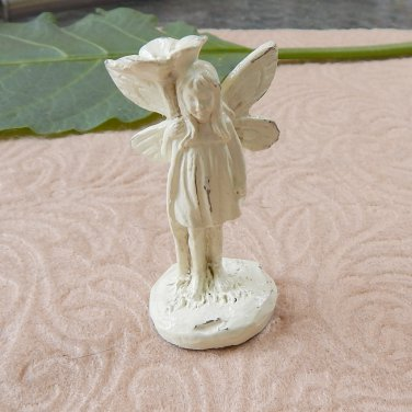Mini Miniature Standing Garden Fairy Pixie Figurine Ivory