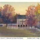 Susan Murphy Postcard Woodlawn in Autumn Falling Acorns Studio