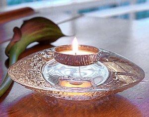 Orrefors Crystal Votive Candleholder