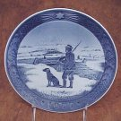 "1977 ROYAL COPENHAGEN ""Immervad Bridge"" Danish Blue White CHRISTMAS PLATE FREE SHIPPING"