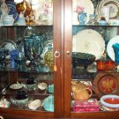 Rich Brown Curio Cabinet