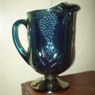 Pearlescent Blue Carnival Glass Pitcher