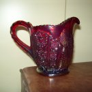 Red Carnival Glass Pitcher