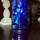 Cobalt Blue Tiki Vase