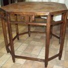 Octagonal Wood Table