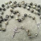Fireworks Jasper Gemstone Rosary Trinity Crucifix 8mm beads