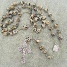 Dalmatian Jasper Gemstone Rosary 8mm beads