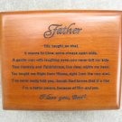 Fathers Prayer, Wooden Prayer Box Keepsake Gift Jewelry Fathers Day