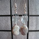 Aqua Terra Jasper Aqua Quartz Dangle Ear Rings