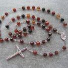 Zebra Onyx Gemstone Rosary 8mm beads