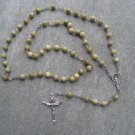 Jade Gemstone Rosary Silver Trinity Crucifix 6mm beads