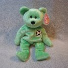 Kicks the Bear TY Beanie Baby Retired MWMT