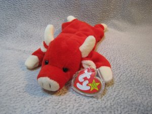 Snort the Bull TY Beanie Baby Retired MWMT
