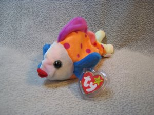 Lips the Fish TY Beanie Baby Retired MWMT