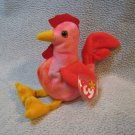 Strut the Rooster TY Beanie Baby Retired MWMT