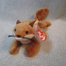 Sly the Fox TY Beanie Baby Retired MWMT