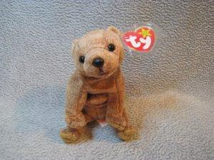 Pecan the Bear TY Beanie Baby Retired MWMT