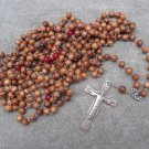 Olive Wood Red Quartz Orthodox Chotki Prayer Beads Risen Christ Crucifix 300 Bead