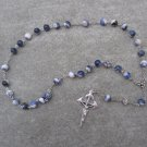 Sodalite Gemstone Anglican Rosary Silver Crucifix 8mm Beads