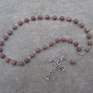 Amber Onyx Gemstone Orthodox Chotki Prayer Beads Silver Crucifix 33 Beads