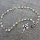 Italian Onyx Gemstone Orthodox Chotki Prayer Beads Silver Crucifix 33 Beads