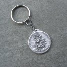 Our Lady of the Highway Saint Christopher Medal Key Ring