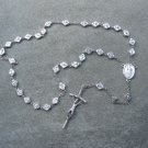 Miraculous Medal Devotional Divine Mercy Anglican Rosary Silver Crucifix 8mm Beads