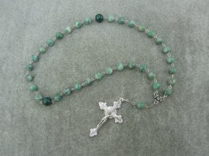 Ching Hai Jade Gemstone Orthodox Chotki Prayer Beads Silver Crucifix 33 Bead
