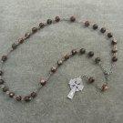 Mica Quartz Gemstone Anglican Rosary Silver Celtic Cross 8mm Beads