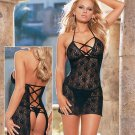Open Back Lace Up Babydoll