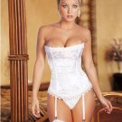 Bride-White Brocade Corset
