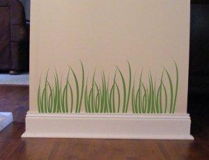 3 Piece Grass Vinyl Wall Decal Sticker Earthy Deco