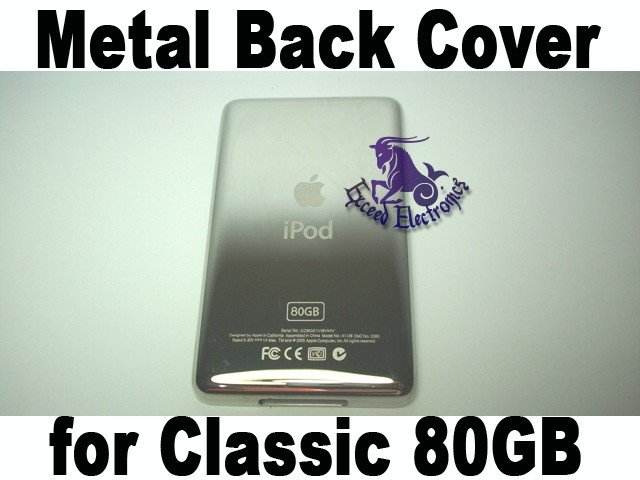 Genuine OEM  Matel Back Faceplate Housing Fascia Cover for iPod 6th Gen Classic 80GB