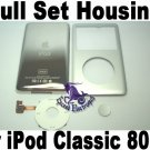 Genuine OEM Silver Full Set Housing Fascia Cover Clickwheel Button for iPod 6th Gen Classic 80GB