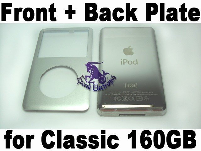 Genuine OEM Silver Front+Back Housing Fascia Cover for iPod 6th Gen Classic 160GB