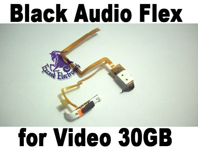 Black Headphone Jack Flex Ribbon Switch Hold for iPod 5th Gen Video 30GB