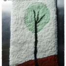 TREE NO. 2 FOLK ART HAND HOOKED RUG OOAK