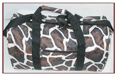 Wholesale Giraffe Brown White Lady's Tote Duffel (1 CASE=20)