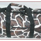 Wholesale Giraffe Brown White Lady's Tote Duffel (1 CASE=20)