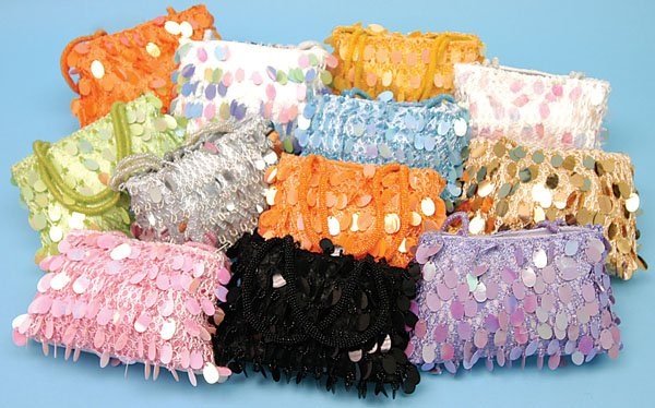 Assorted Color Sequence Purses(1 CASE=36)