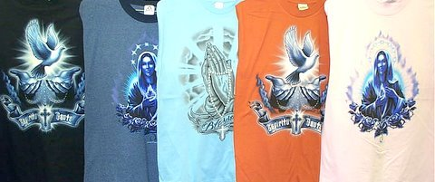 Wholesale Assorted Mens Short Sleeve Religious Prints (1 CASE=36)