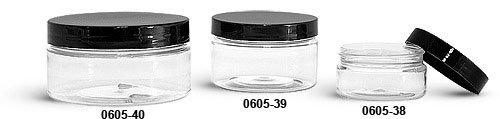200 PIECE PLASTIC COSMETIC JAR LOT