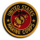 "UNITED STATES MARINE CORPS USMC 3"" Round Military Patch"