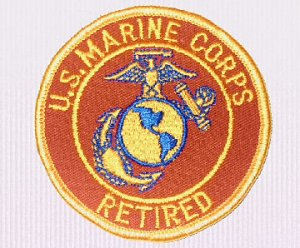 "UNITED STATES MARINE CORPS RETIRED 3"" Round Military Patch"